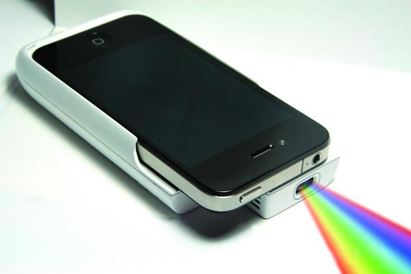 iPhone 便携投影仪投影方式