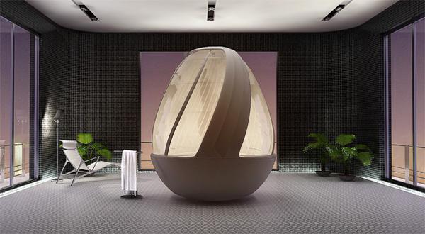 鸡蛋形状的沐浴系统2