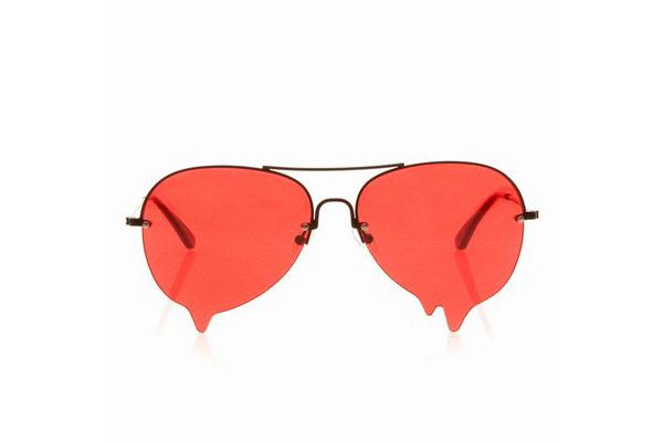 融化的墨镜红色
