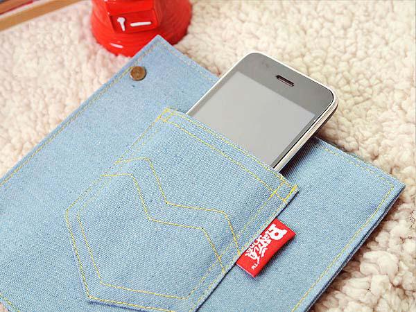 牛仔裤包皮笔记本装手机
