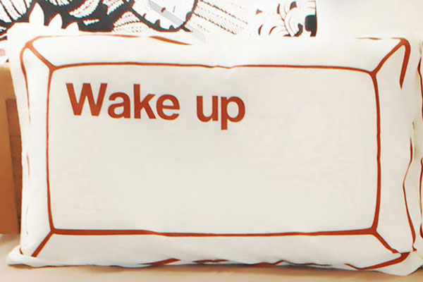 wake up&sleep 创意枕套(二)