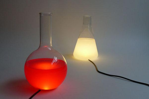 烧瓶彩色台灯