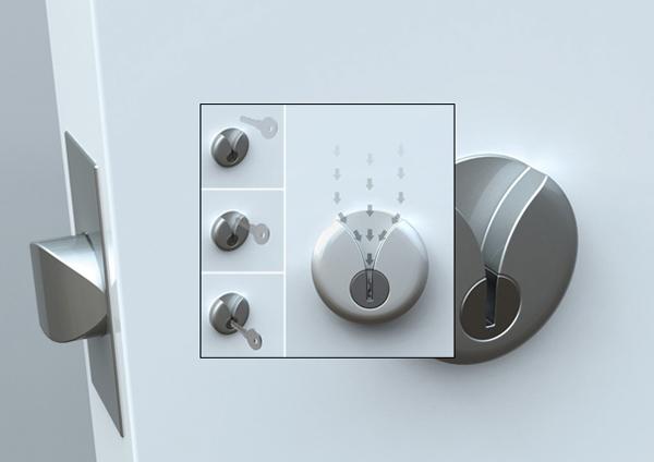 V形钥匙孔设计