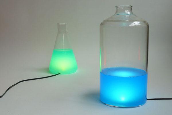 烧瓶彩色台灯(二)