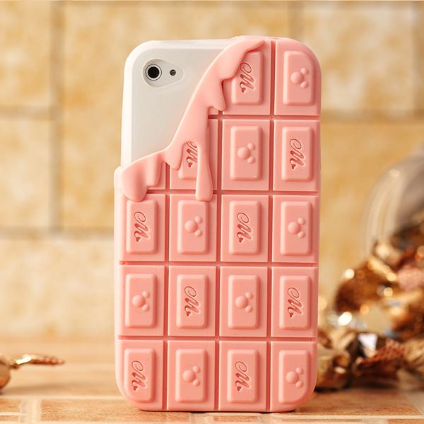 融化巧克力手机壳粉色