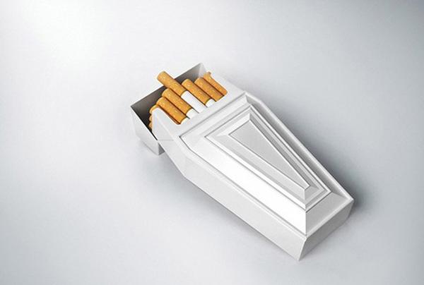 棺材里的香烟包装