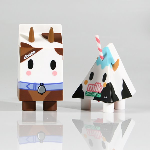 奶牛样式的牛奶包装