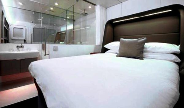 Hotelicopter 内部卧室