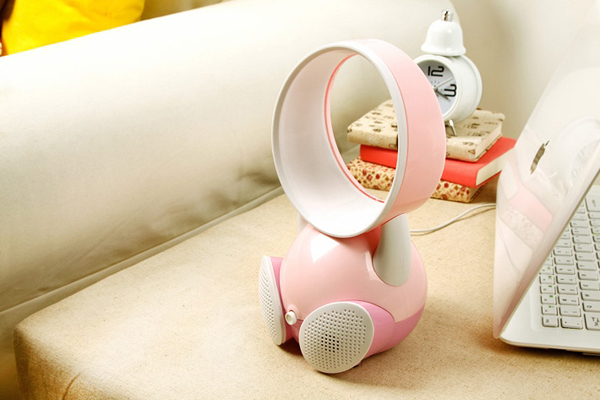 无叶音箱风扇粉红色