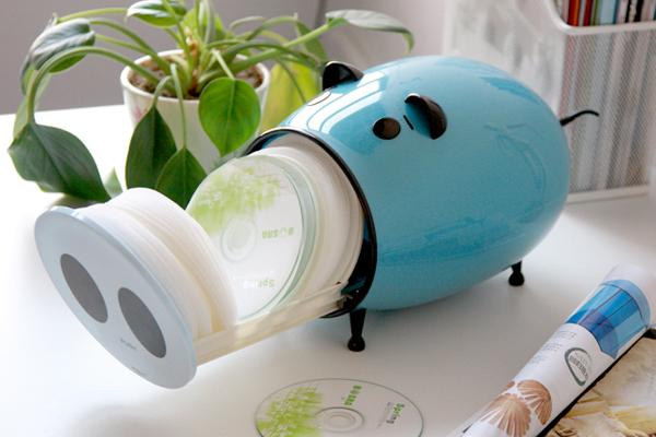 卡通猪CD收纳盒蓝色