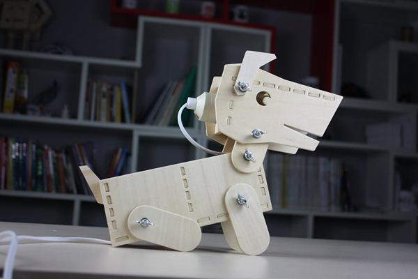 小狗造型台灯