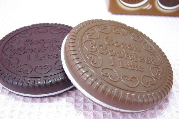 巧克力饼干化妆镜