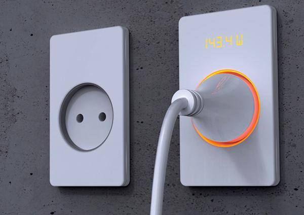 带用电量提示的插座
