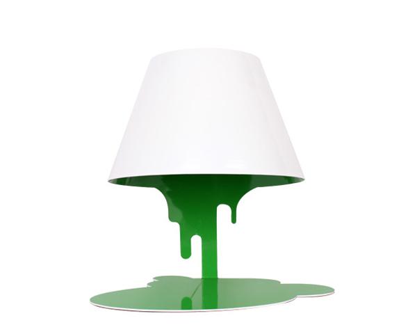 融化的台灯绿色