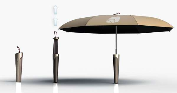 POPI 手柄存储雨伞使用