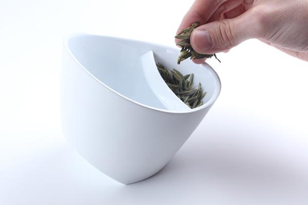 倾斜过滤茶杯
