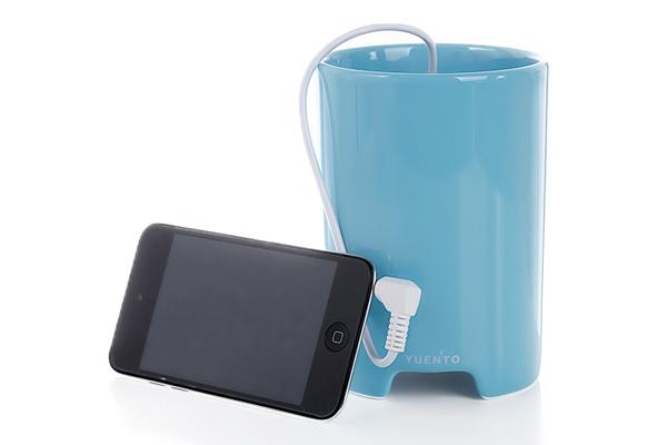 马克杯样式的播放器天蓝色