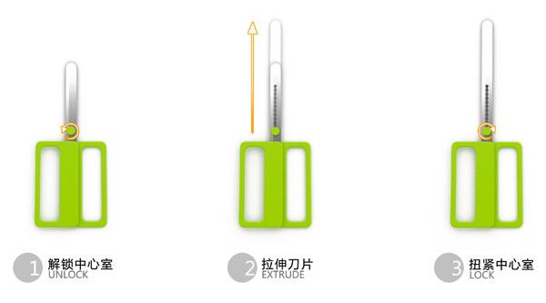 可调节长度的剪刀(四)