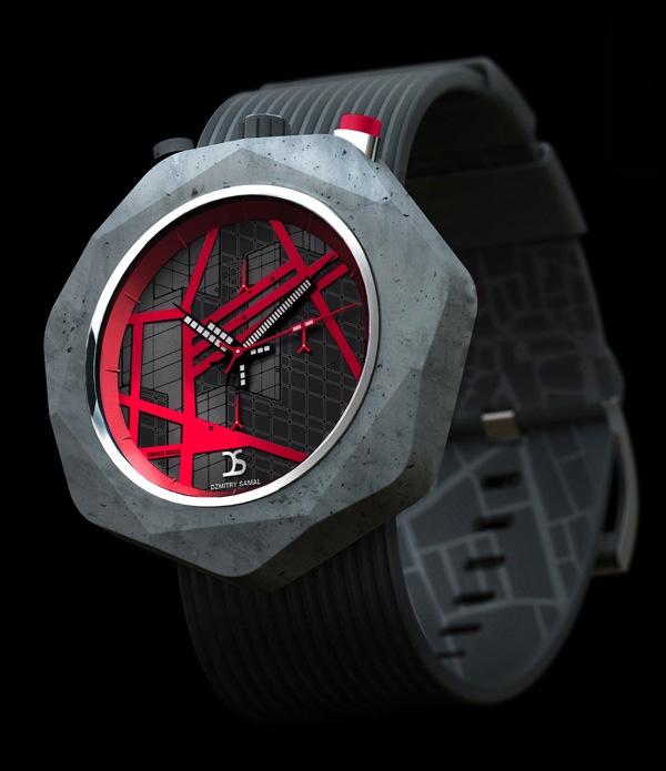 时尚霸气的混凝土手表(三)