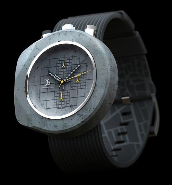 时尚霸气的混凝土手表