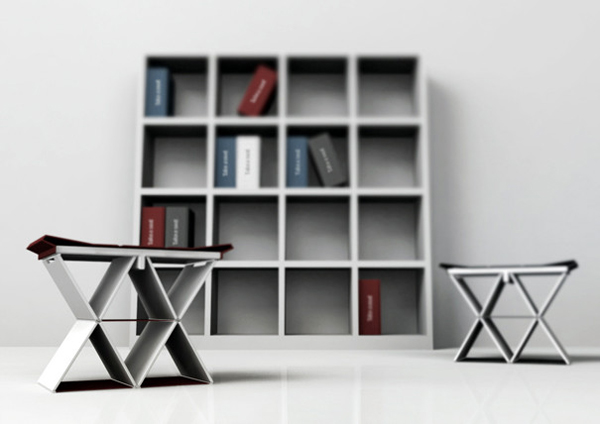折叠书本凳子