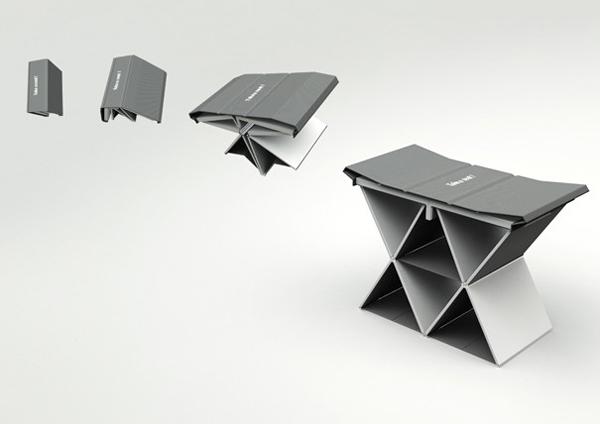 折叠书本凳子(五)