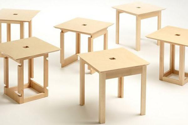 节约空间的组合凳子