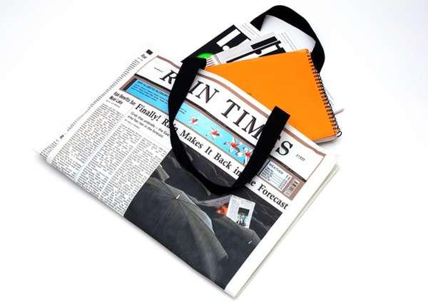 报纸样式布包