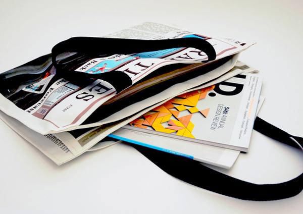 报纸样式布包(二)