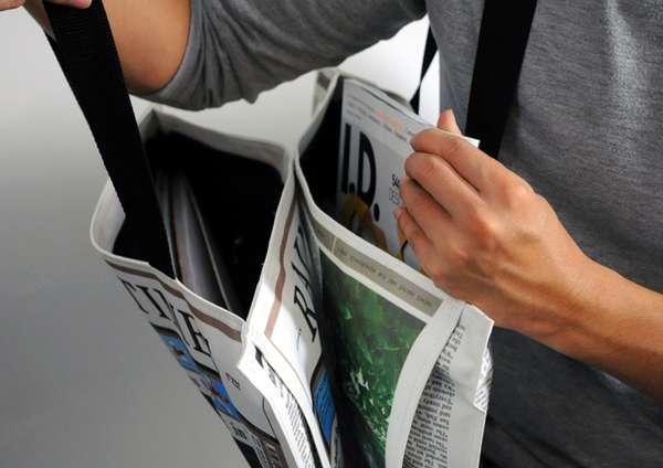 报纸样式布包(三)