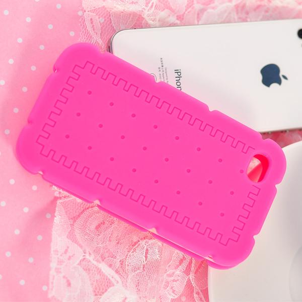 夹心饼手机壳粉色
