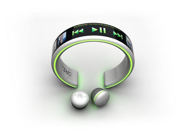 超概念的手环型触屏MP3