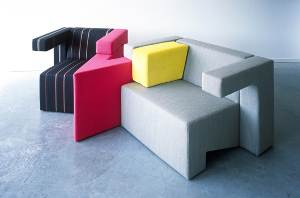 可以任意组合的多彩沙发