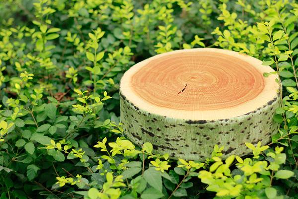 树墩仿真靠垫