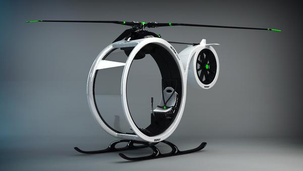 超帅超概念的0℃直升机