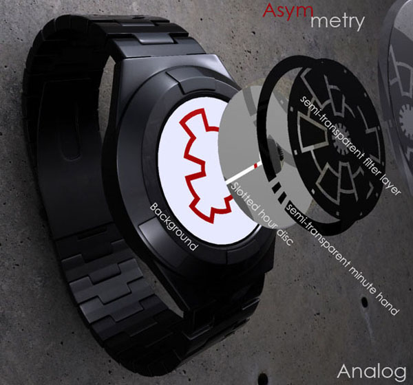 Asymmetry Analog 概念手表结构分析
