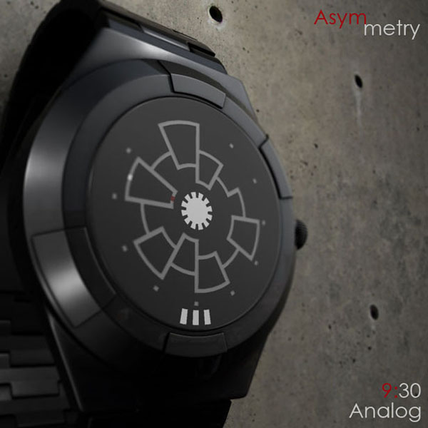 Asymmetry Analog 概念手表显示时间9:30