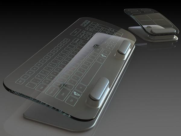 玻璃材料的多点触控键盘与鼠标