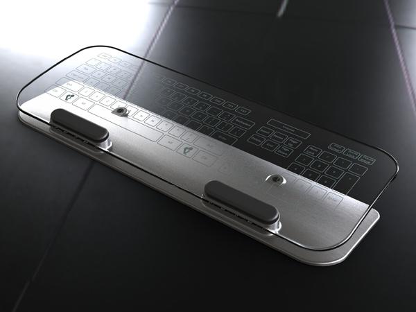 玻璃材料的多点触控键盘