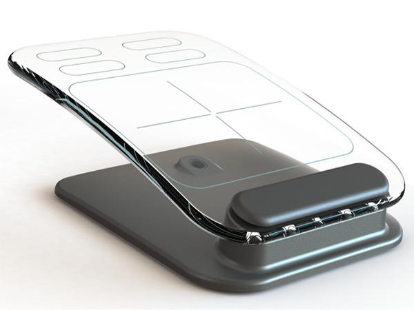 玻璃材料的多点触控鼠标