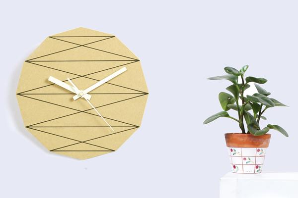 几何元素的时钟展示