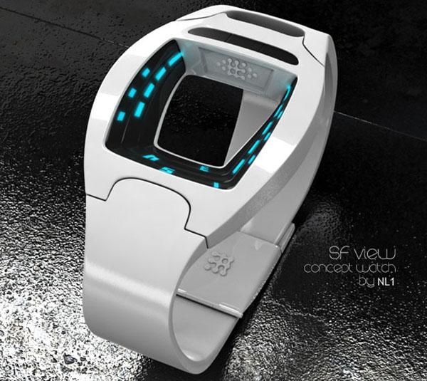 SF 科幻的概念手表