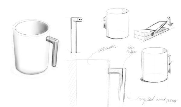 神奇时尚的对杯设计草图