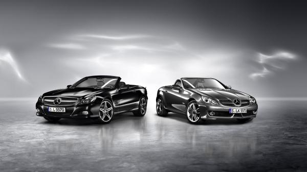 双雄-Mercedes-benz梅赛德斯奔驰SLK敞篷跑车