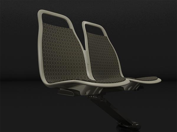 造型优雅的公共座椅