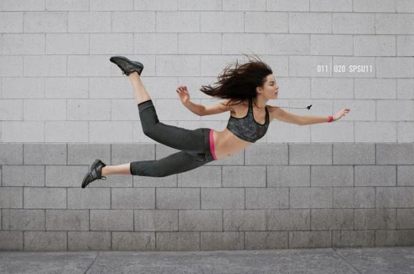 Nike广告中的漂浮