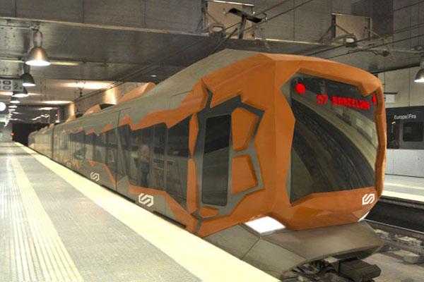 充满艺术风格的火车(二)