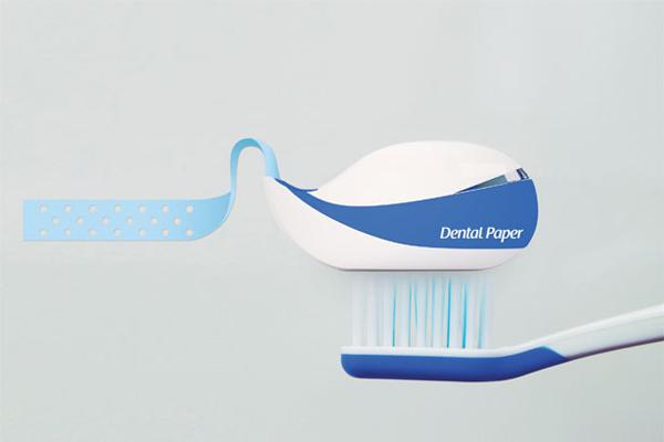 纸牙膏的包装