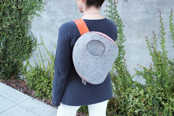 简约时尚的毛毡包包