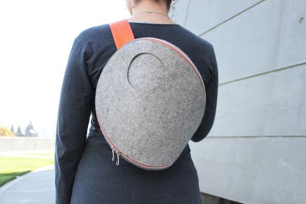 简约时尚的毛毡包包(二)